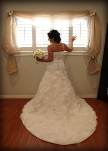 Rosa Clara A-line Tiered Strapless Gown - Rosa Clara - Nearly Newlywed Bridal Boutique - 1