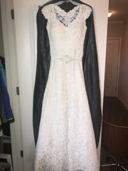 Essense of Australia 'Stella York' size 2 used wedding dress front view on hanger