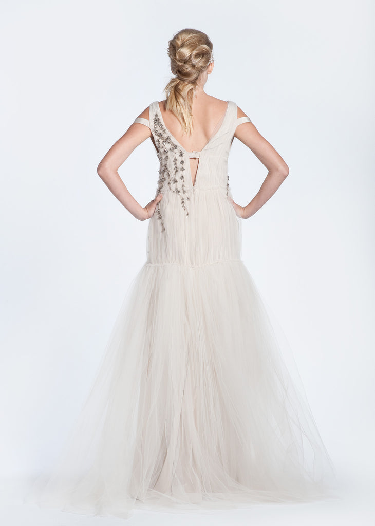 Bibhu Mohapatra 'Ellie' Blush Tulle Mermaid Wedding Dress - Bibhu Mohapatru - Nearly Newlywed Bridal Boutique - 6