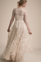 BHLDN 'Golden Hour' size 12 new wedding dress back view on model