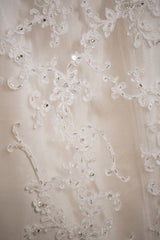 Sottero and Midgley 'Suzette' size 10 used wedding dress close up of fabric