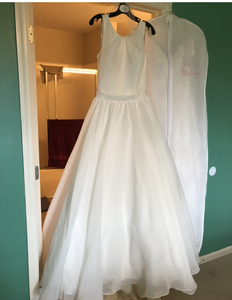 Maggie Sottero 'Anita' size 14 sample wedding dress front view on hanger