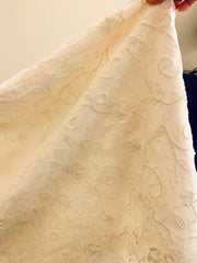 Oleg Cassini 'A-Line Tank Scoop Neckline with Embroidery on Organza Overlay'