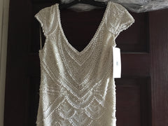 Theia 'Serena' size 6 new wedding dress front view on hanger