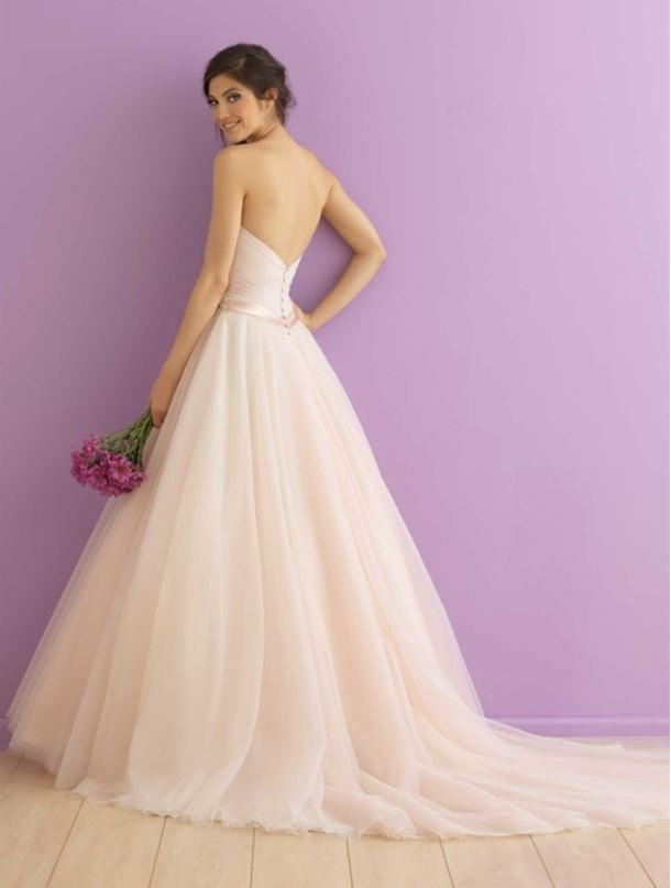 Allure '2904' size 12 new wedding dress back view on model
