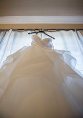 Hayley Paige 'Londyn' size 6 used wedding dress back view on bride