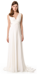 Theia Ruched Chiffon Gown - THEIA - Nearly Newlywed Bridal Boutique - 1