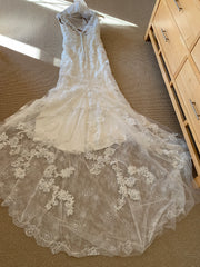 Casablanca 'Imperial' size 12 new wedding dress back view flat