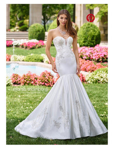 Mon Cheri Bridal 'Calliope' size 6 sample wedding dress front view on model
