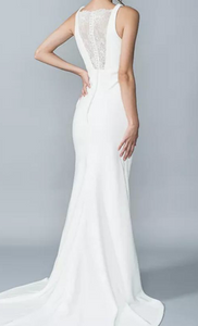 Lis Simon 'Hilton' size 10 new wedding dress back view on bride