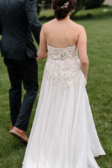 Jenny Yoo 'Marabella' size 4 used wedding dress back view on bride
