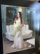 Load image into Gallery viewer, Demetrios '619' size 6 used wedding dress front view on bride