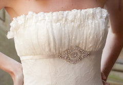 Priscilla of Boston Platinum STYLE PL163 Wedding Dress - Priscilla of Boston - Nearly Newlywed Bridal Boutique - 4
