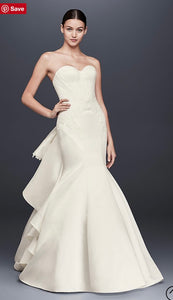 Zac Posen '345004' size 6 sample wedding dress front view on model