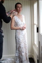 Load image into Gallery viewer, BHLDN 'Liesel' size 4 used wedding dress front view on bride