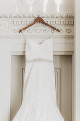 Mori Lee 'Madeline Gardner' size 10 used wedding dress front view close up