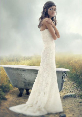Melissa Sweet Hallie Strapless Wedding Dress