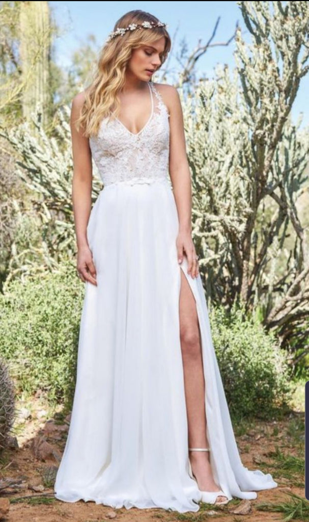 Justin Alexander 'Lilian West Collection' size 14 new wedding dress front view on model