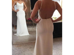 Sarah Seven 'Marseille' size 8 new wedding dress front/back views on bride