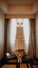 Load image into Gallery viewer, Randi Fenoli 'Spring 2018' size 10 used wedding dress front view on hanger