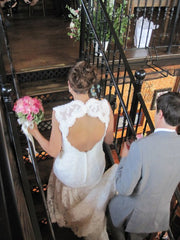 Custom 'Romantic Lace Open Back' - Custom - Nearly Newlywed Bridal Boutique - 2