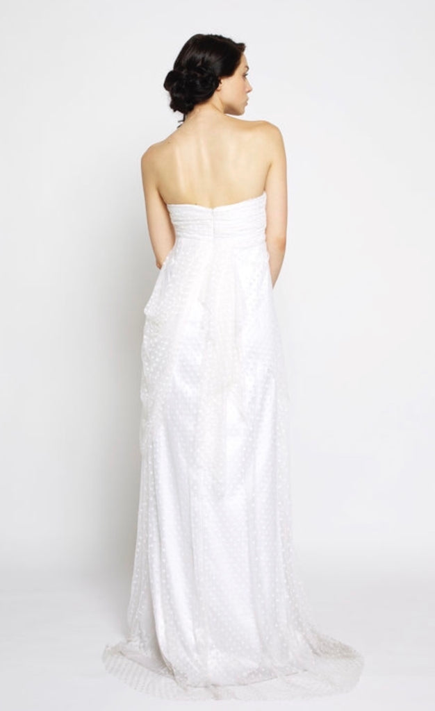Claire La Faye 'Love Story' size 4 used wedding dress back view on model