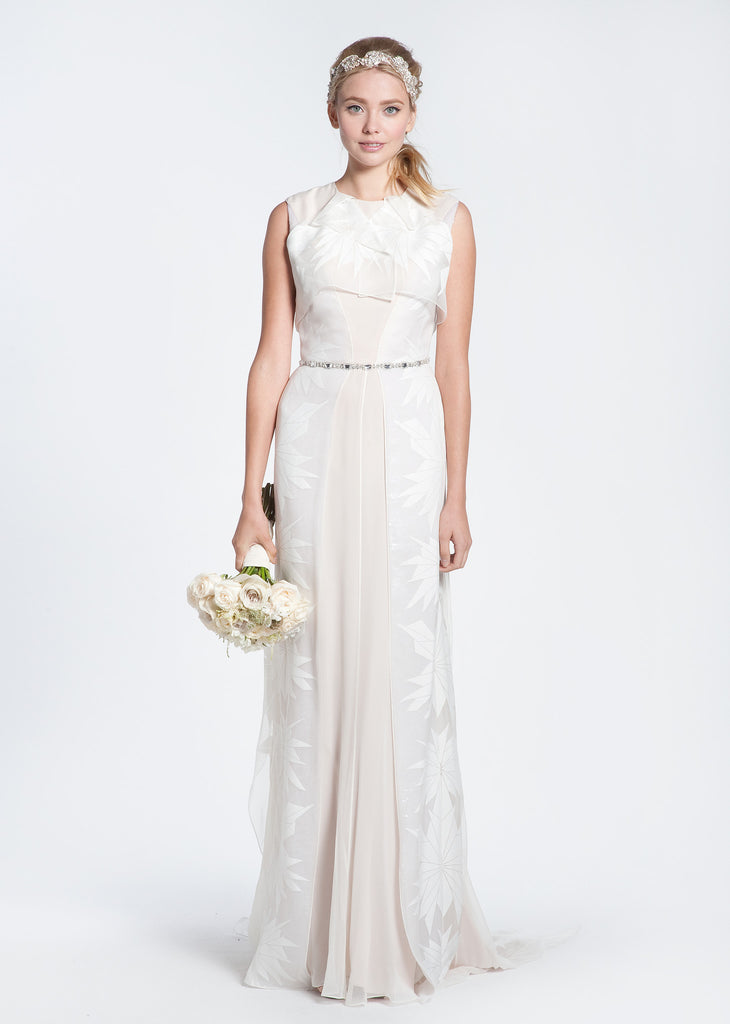 Bibhu Mohapatra 'Gwyneth' Blush & White Floral Wedding Dress - Bibhu Mohapatru - Nearly Newlywed Bridal Boutique - 2