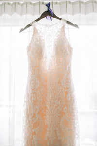 Sottero and Midgley 'Winifred' size 8 used wedding dress front view on hanger