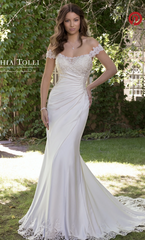 Sophia Tolli 'Y21820' size 10 new wedding dress front view on model