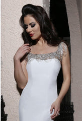 Cristiano Lucci 'Brie' size 14 new wedding dress front view on model