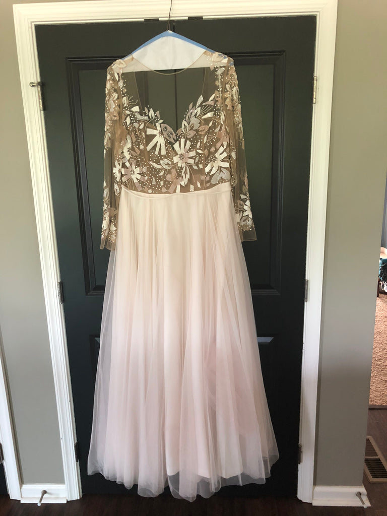 Hayley Paige 'Remmington' size 24 used wedding dress front view on hanger