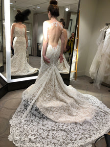 Ines Di Santo 'Delight' size 6 new wedding dress back view on bride
