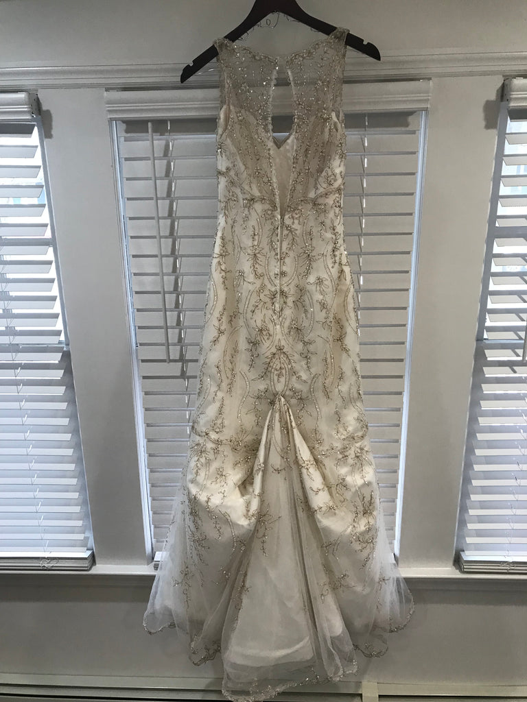Maggie Sottero 'Blakely' size 2 used wedding dress back view on hanger