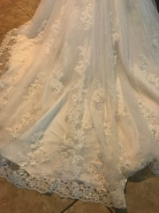 Maggie Sottero 'Camden' size 12 new wedding dress view of train
