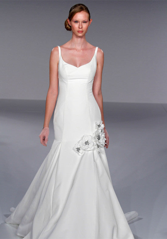 Priscilla of Boston Jewel Structured Trumpet Gown - Priscilla of Boston - Nearly Newlywed Bridal Boutique - 1