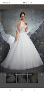 Mori Lee 'Brand New' size 12 new wedding dress front view on model