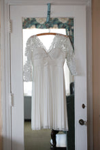 Load image into Gallery viewer, BHLDN 'Omari' size 4 used wedding dress front view on hanger