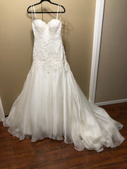 Martina Liana '411' size 10 new wedding dress front view on hanger