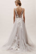 Load image into Gallery viewer, BHLDN 'Hearst' size 6 used wedding dress back view on model