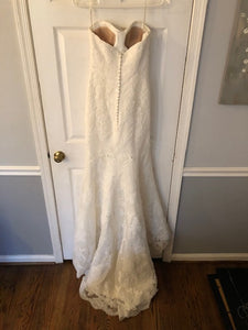 Demetrios 'Ilissa 900 RN 98249' size 2 used wedding dress back view on hanger