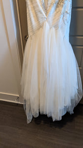 JUSTIN ALEXANDER '8917' wedding dress size-14 PREOWNED