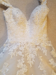 Maggie Sottero 'Saffron' size 6 used wedding dress front view flat