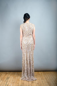 Elie Saab Light Taupe Fully Sequined Wedding Dress - Elie Saab - Nearly Newlywed Bridal Boutique - 5