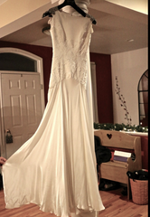Carol Hannah 'Pemberley' size 4 sample wedding dress front view on hanger