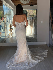 Eddy K. 'Fiji' size 2 new wedding dress back view on bride
