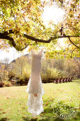 Marchesa 'Essence' size 12 new wedding dress front view on hanger