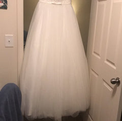 Alfred Angelo '2595' size 16 new wedding dress view of train