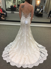 Maggie Sottero 'Nola' size 8 new wedding dress back view on bride
