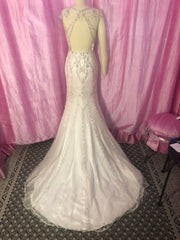 Sottero and Midgley 'Syanne' size 2 used wedding dress back view on mannequin