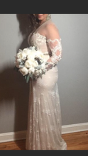 Load image into Gallery viewer, Inbal Dror '15-14' size 10 used wedding dress side view on bride